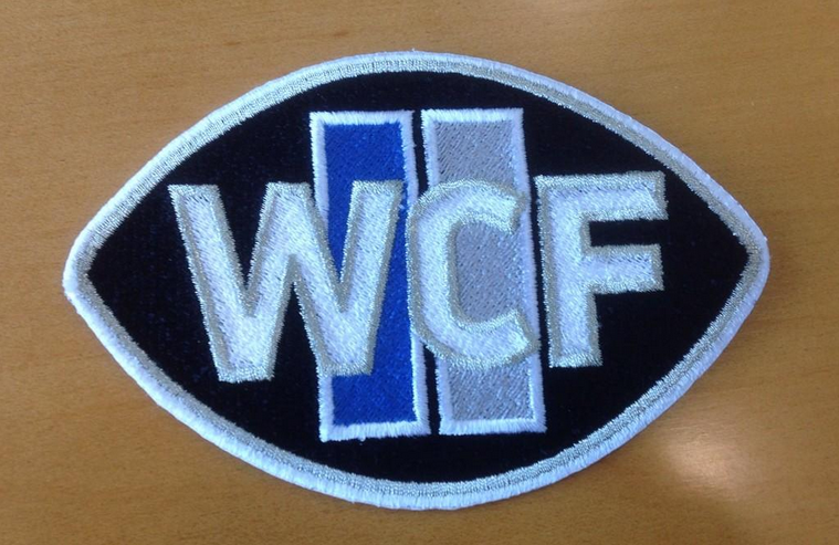 Embroidered WCF jersey patch